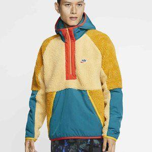 Nike Sportswear 1/2 Zip Retro Sherpa Hoodie Gold